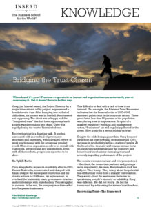 Bridging the Trust Chasm